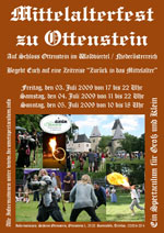 Offizeller Flyer zum Mittelalterfest - Klicken zum vergr&ouml;ssern