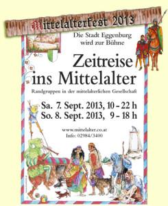 Mittelalterfest Eggenburg 2013 Flyer