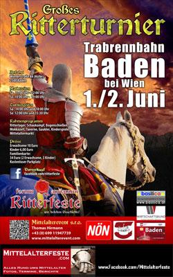 Mittelalterfest Baden bei Wien 2013 Ritterturnier