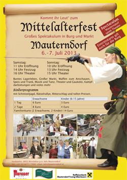 Mittelalterfest in Mauterndorf 2013  6. und 7. Juli 2013