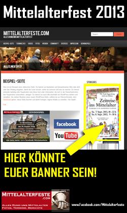 Mittelalterfeste.com - Alles rund ums Mittelalterfest, Ritterfest, Markt, Turnier, Zeitreise, Spectaculum