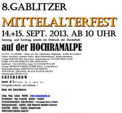 Gablitz Mittelalterfest 2013 flyer-mafest2013-1