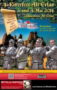 Mittelalterfest Alt-Erlaa 2014 Plakat