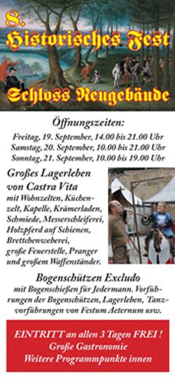 Mittelaltermarkt Schloss Neugebäude 2014 Mittelalterfest